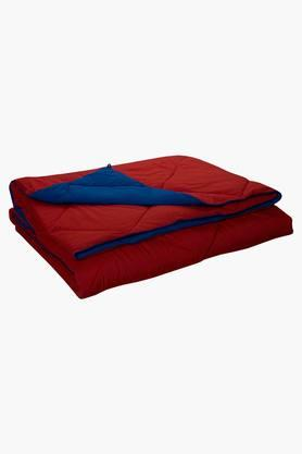 STOA PARIS Blue Red Reversible Microfiber Comforter (Comforter (Single)