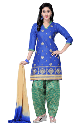 DEMARCAWomen Cotton Dress Material (Buy Any Demarca Product & Get A Pair Of Matching Earrings Free) - 200875674