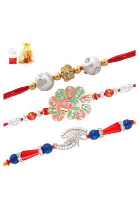 MAHI Rakhi Combo Of Three Assorted Combo Of Rakhis For Men