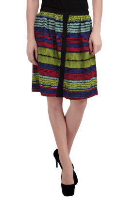 HAUTE CURRY Women Cotton Printed Skirt