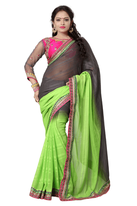 DEMARCA Women Jacquard Designer Saree - 9874477