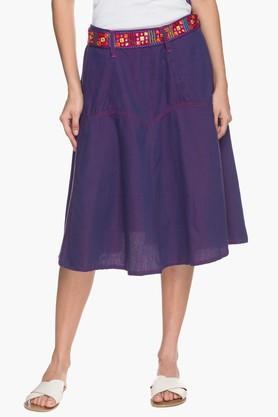 IMARAWomens Basic Elasticized Skirt