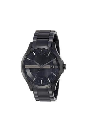 Mens Black Dial Metallic Analogue Watch - AX2104I