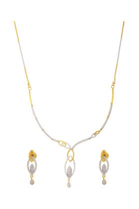 TUAN Gold-plated Attractive Necklace Set For Women (INK-500) (Use Code FB20 To Get 20% Off On Purchase Of Rs.1800)