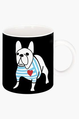 CRUDE AREA French Bulldog In Breton Shirt Printed Ceramic Coffee Mug By Natasa  ...