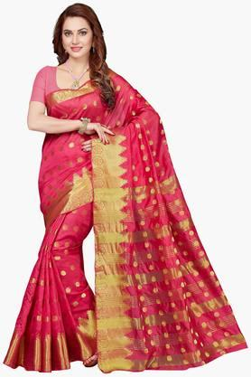 Women Bhagalpuri Art Silk Zari Border Saree