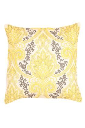 Square Damask Ethnic Embroidered Cushion Cover