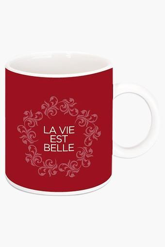 Life is Beautiful Printed Ceramic Coffee Mug By Robin Dickinson