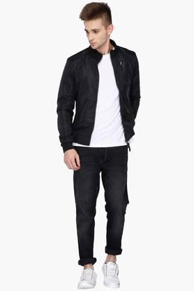 Mens Slim Fit Printed Jacket