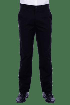 COLOR PLUSMens Flat Front Slim Fit Solid Formal Trouser