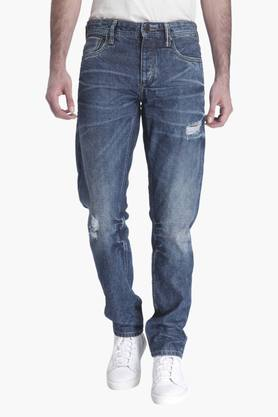 JACK AND JONES Mens 5 Pocket Stretch Jeans (Mike Fit)