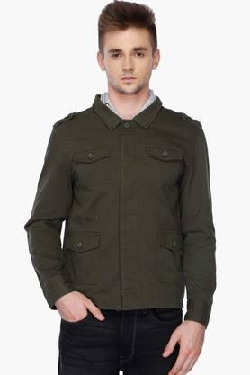 LIFEMens Hooded Neck Colour Block Jacket