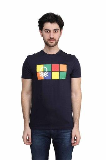 UNITED COLORS OF BENETTON -  BlueT-Shirts & Polos - Main