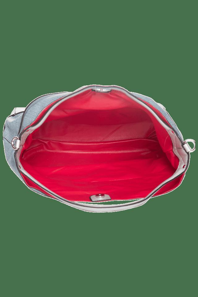 Womens Leather Snap Closure Tote Handbag