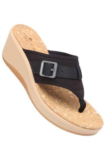 CLARKS -  Black Platform & Wedges - Main