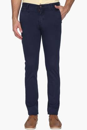 ARROW SPORT Mens Chrysler Fit 5 Pocket Solid Trousers  ...
