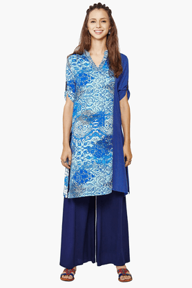 GLOBAL DESI Women's Straight Fit Printed Kurta