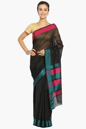 Women Chanderi Saree With Dual Border