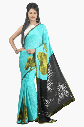 JASHN Womens Printed Saree - 201502550