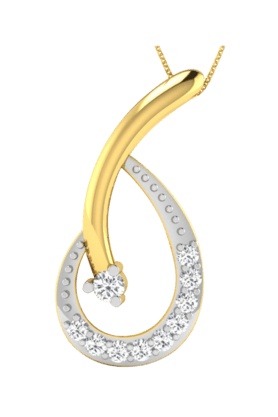 SPARKLESHis & Her Collection 18 Kt Pendant In Gold & Real Diamond HHP10398
