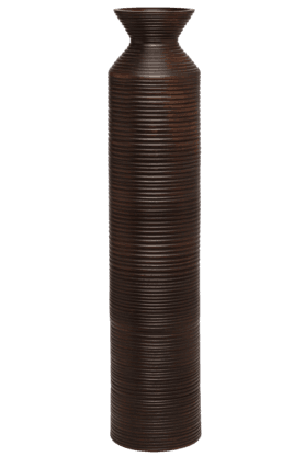BACK TO EARTHWooden Striped Vase