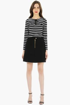 FABALLEY Womens Solid Short Skirt - 201993906