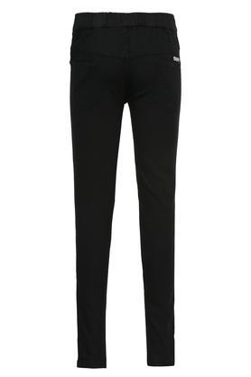 Girls 4 Pocket Coated Jeans