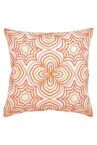 Square Ethnic Embellished Cushion Cover