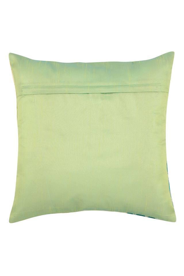Square Flower Applique Cushion Cover