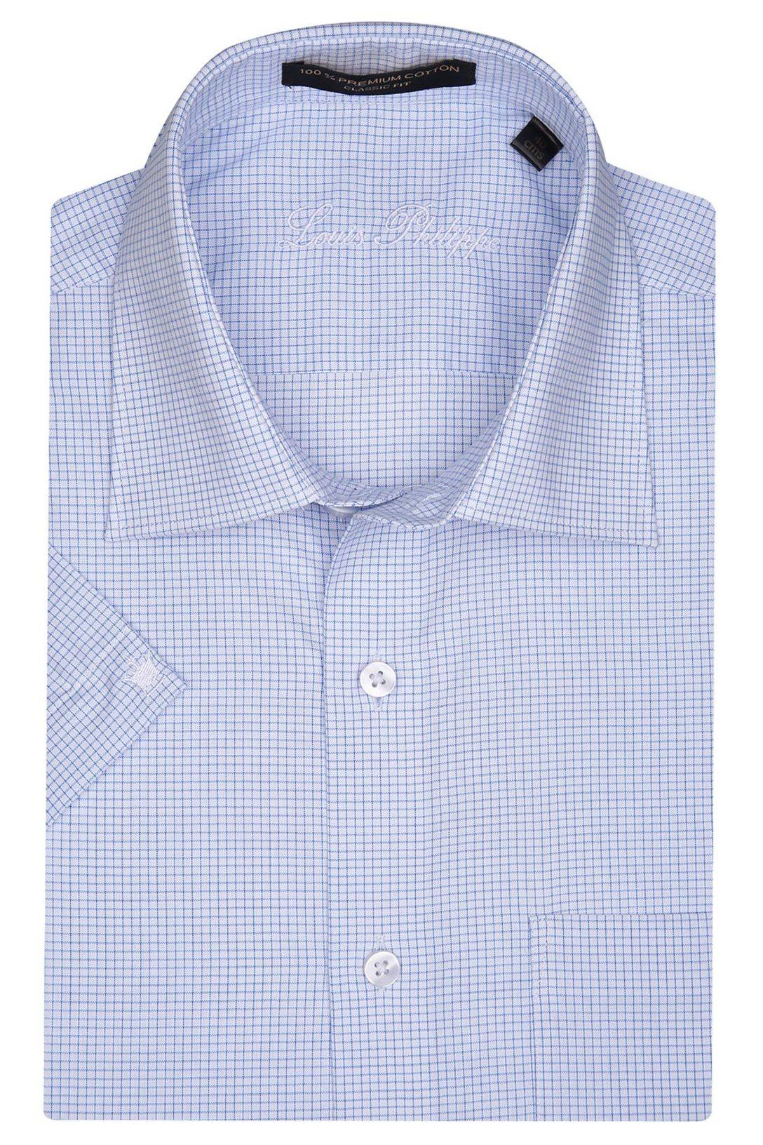 13557ef4a8f Buy LOUIS PHILIPPE Louis Philippe-Mens Half Sleeves Slim Fit Formal Check  Shirt