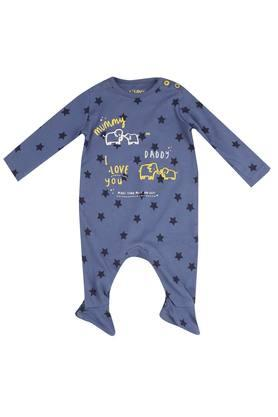 Kids Round Neck Printed Babysuit