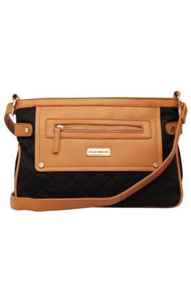 ELLIZA DONATEIN Womens Daily Wear Leather Zipper Closure Sling Bag (Use Code FB20 To Get 20% Off On Purchase Of Rs.1800)