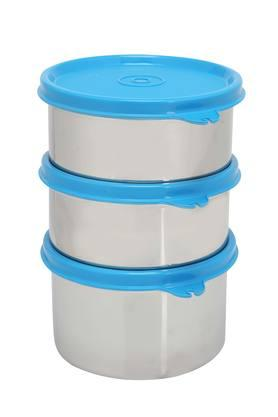 Round Executive Lunch Box with Bag Set of 4 - 500ml