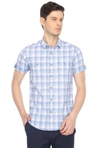 Mens 2 Pocket Checked Casual Shirt