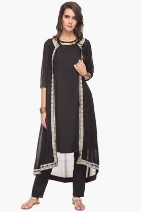 IMARA Womens Solid Pants And Kurta Set