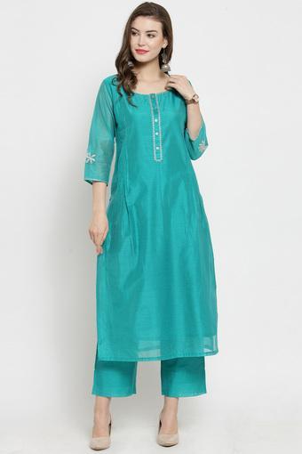 VARANGA -  TurquoiseSalwar & Churidar Suits - Main