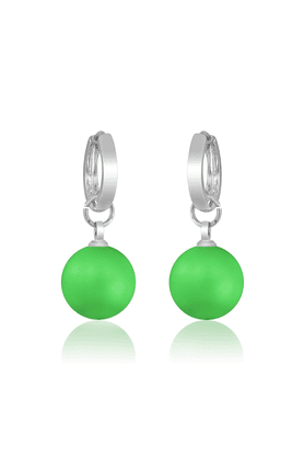 MAHI Neon Green Earrings - S (Made With Swarovski Elements)