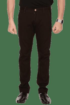 BAY ISLANDMens Flat Front Slim Fit Solid Chinos