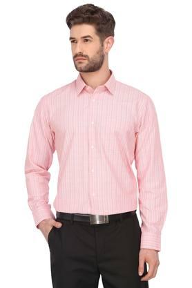 Mens Printed and Slub Formal Shirt - Pack of 2