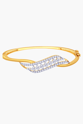 MALABAR GOLD AND DIAMONDS Womens 18 KT Gold And Diamond Bracelet - 201203727