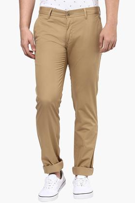 LOUIS PHILIPPE SPORTS Mens 4 Pocket Solid Chinos - 201690874