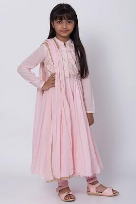 BIBA GIRLS - Salmon Salwar Kurta Set - 1