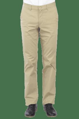 VAN HEUSENMens Flat Front Slim Fit Solid Chinos