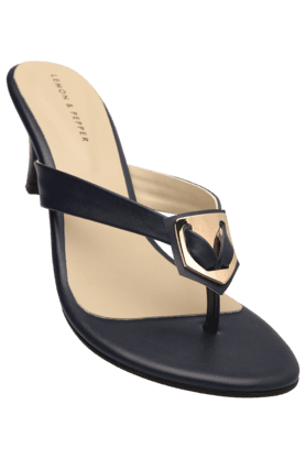 LEMON & PEPPER Womens Party Wear Slipon Heel Chappal (Use Code FB20 To Get 20% Off On Purchase Of Rs.1800)