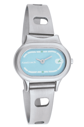 Fastrack Ladies Watch with Silver Coloured Metallic Strap - NE2394SM02