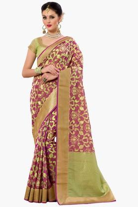 DEMARCAWomens Banarasi Kora Silk Designer Saree