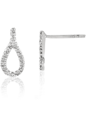 SPARKLES His & Her Collection 9 Kt His & Her Diamond Earrings In Gold And Real Diamond - 0.15 Cts HHT7823-9KT
