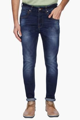 UNITED COLORS OF BENETTON Mens Slim Fit Heavy Wash Jeans