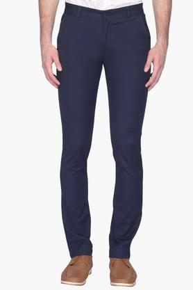 UNITED COLORS OF BENETTONMens Slim Fit 5 Pocket Solid Chinos
