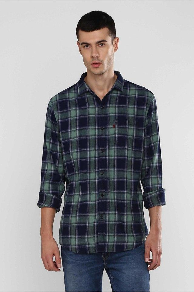 LEVIS - Green Casual Shirts - Main